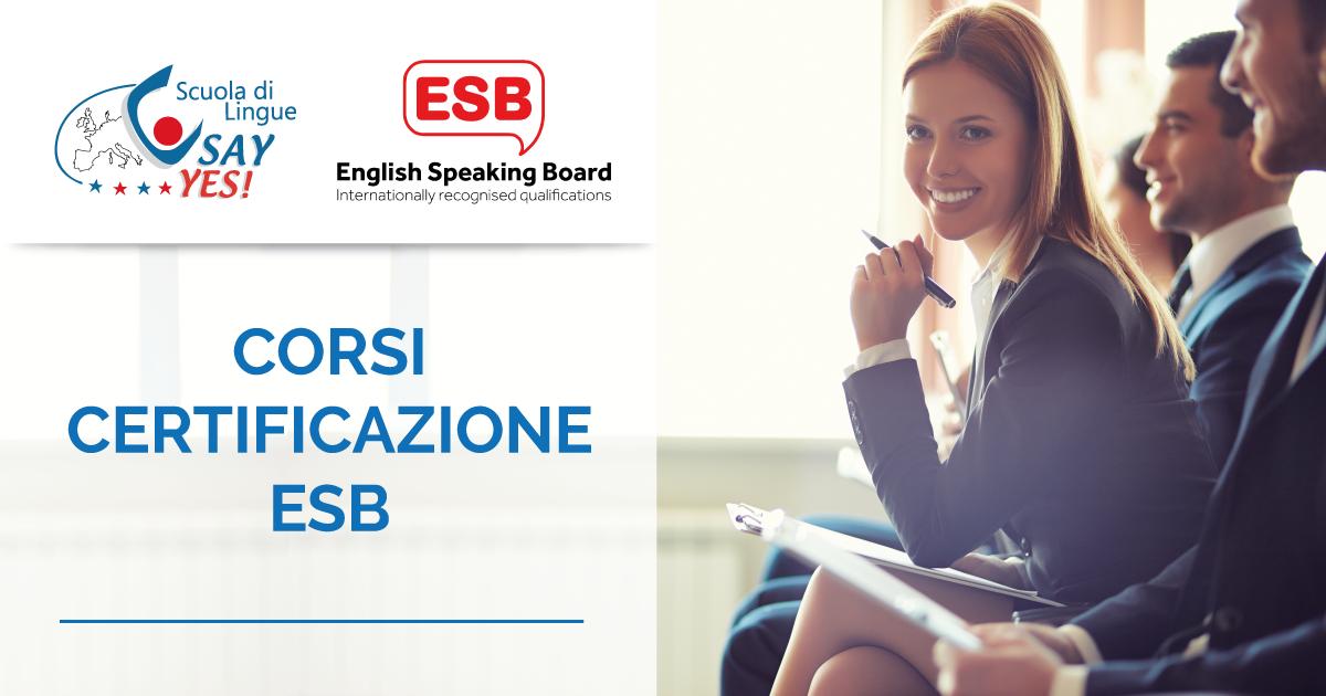 corsi certificazione ESB